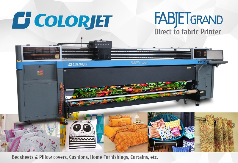 COLORJET's eco-friendly digital textile printing machine at GTE 2016