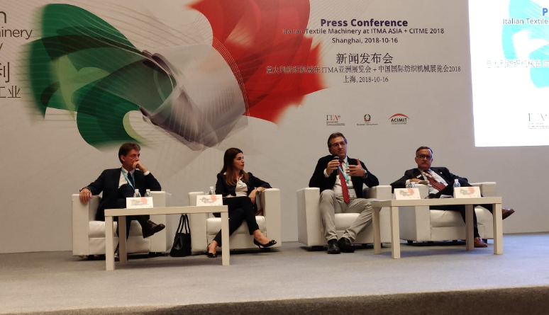 Italian Textile Machinery plays a major role featuring