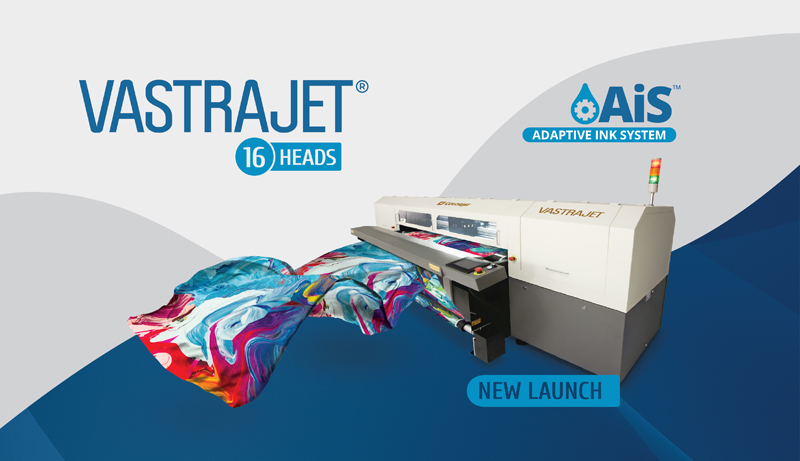Colorjet to launch 16 head Vastrajet® Digital Textile Printer with AiS™